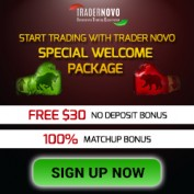 TraderNovo Forex Broker – 30$ Forex No Deposit Welcome Bonus & 100% Deposit Bonus!